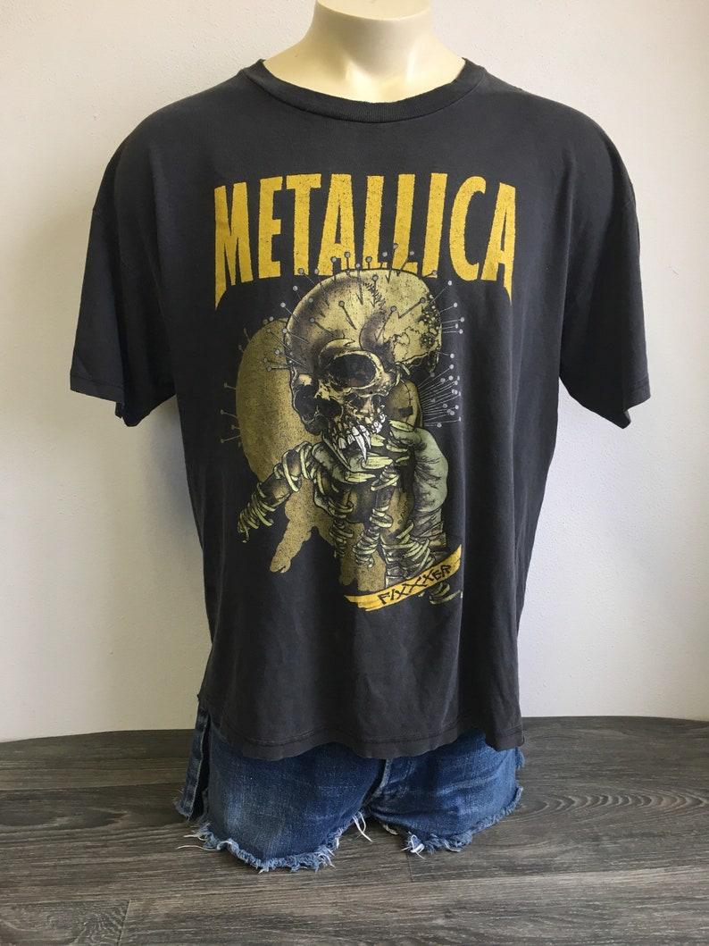 8dbf10e83 Vintage METALLICA Shirt 90s Tour FIXXXER RaRE Original | Etsy