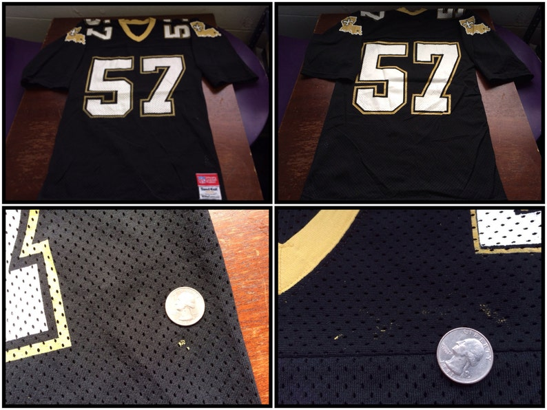 bfd667e6 NEW ORLEANS SAINTS Jersey 1980s Vintage/ Original Rickey Jackson Number 57  Sand Knit MacGregor Nylon Jersey/ Football NfL Fan Dome Patrol