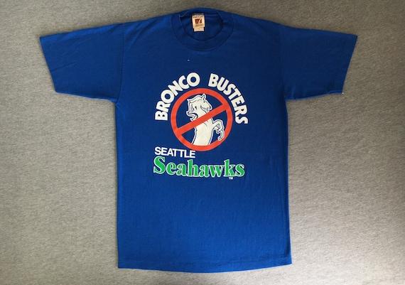 21e154619 SEAHAWKS Shirt BRONCO BUSTERS 80 s Vintage  Seattle