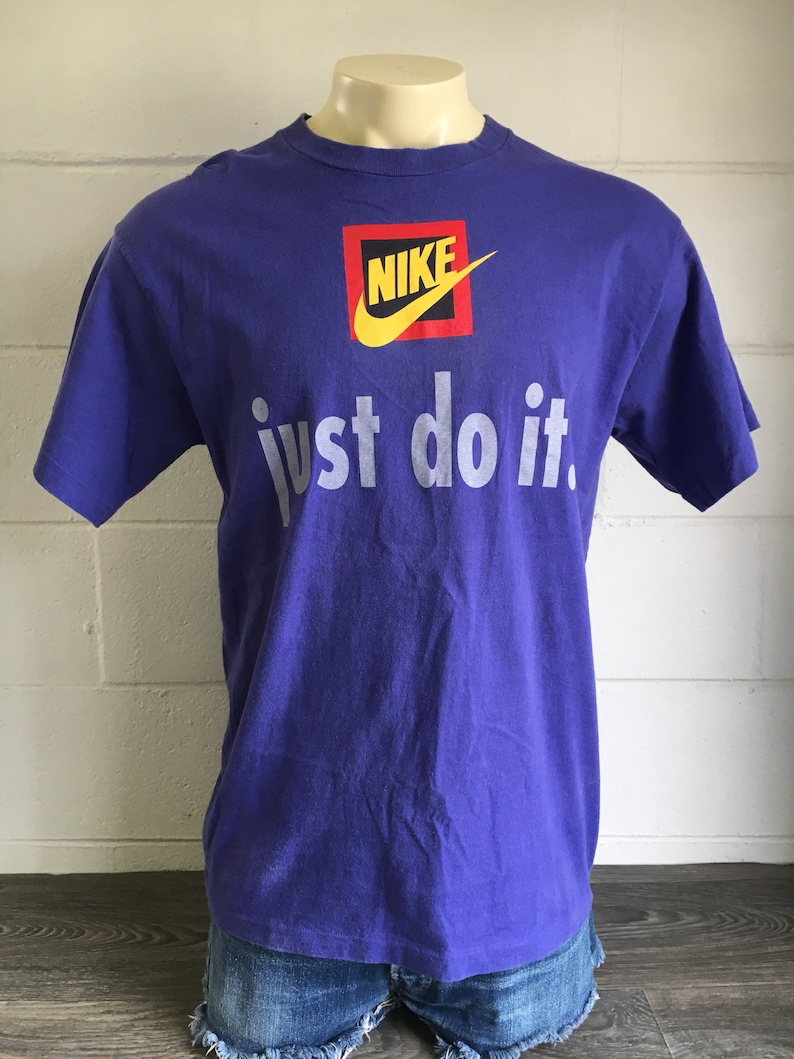 17c72b8c794 NIKE Just Do It Tshirt 90's Vintage Grey Tag Shirt Rare | Etsy