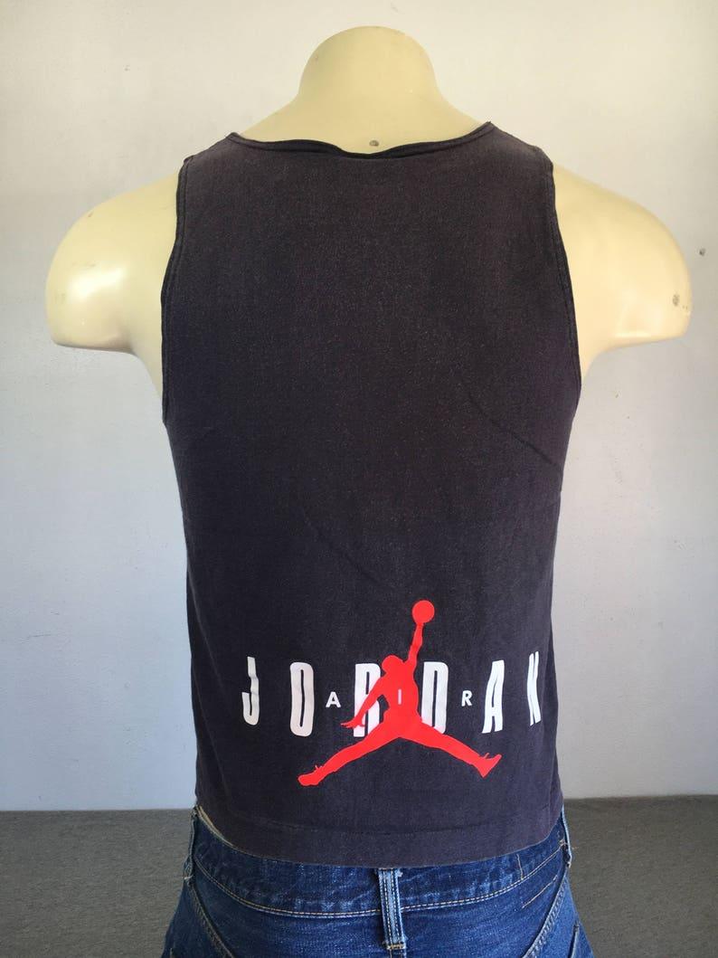72778245787d90 AIR JORDAN Tank Top NIKE 90s Vintage Shirt  Flight Nba Gray