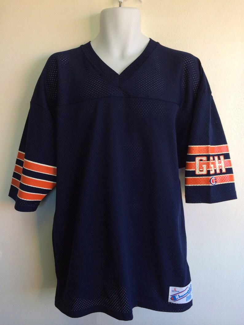Chicago Bears Jersey 1980 s Champion Vintage  Deadstock Blank Gsh Sleeve  Nylon Shirt  Men s Large Football Jersey ef15061e0