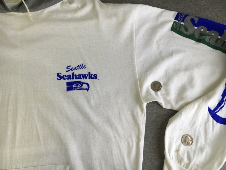 c0503af01 Seattle Seahawks Shirt 80 s Vintage  Unique Sports Hood