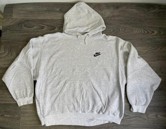 NIKE Hoodie Sweatshirt 90s Vintage Black Label Min