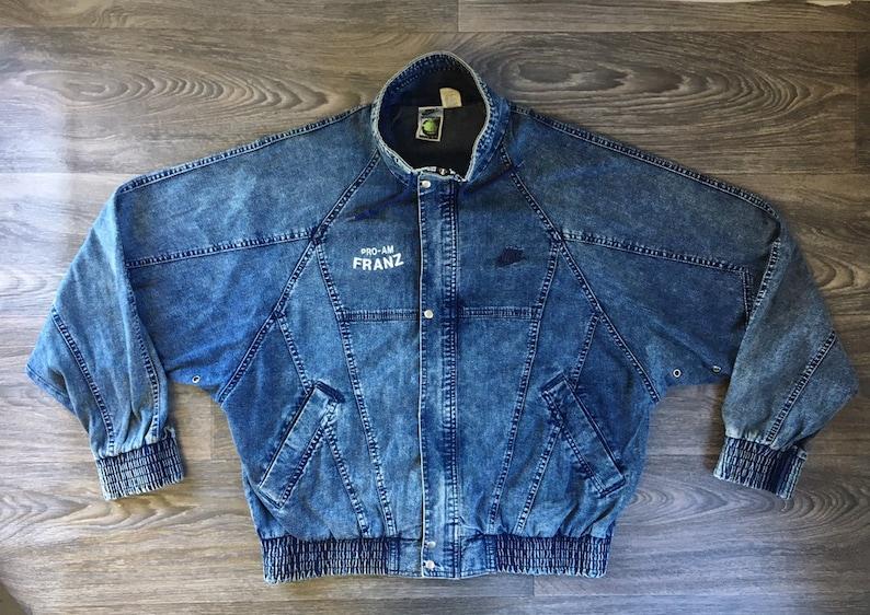 d63347805693 NIKE Denim Jacket 80s Vintage CHALLENGE COURT RaRE Acid
