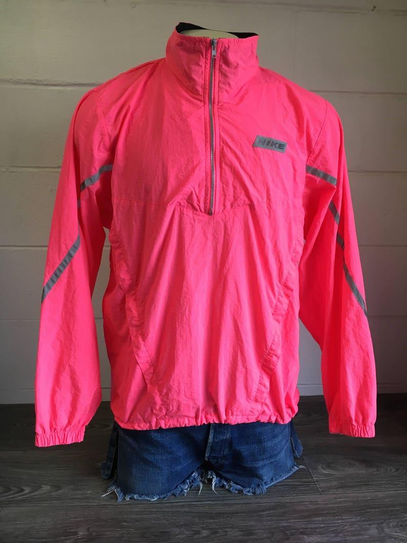 093f10d21d NIKE WINDBREAKER Jacket 80 s 90s Vintage Hot Neon Pink