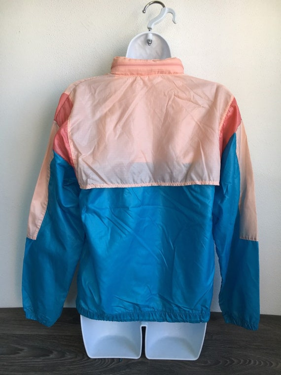 NIKE coupe vent veste 80 ' s Vintage bleu étiquette Pull demi Zip WindRunner Warm Up Nylon Breakdance Hip Hop UsA rouge bleu gris Sm compressible