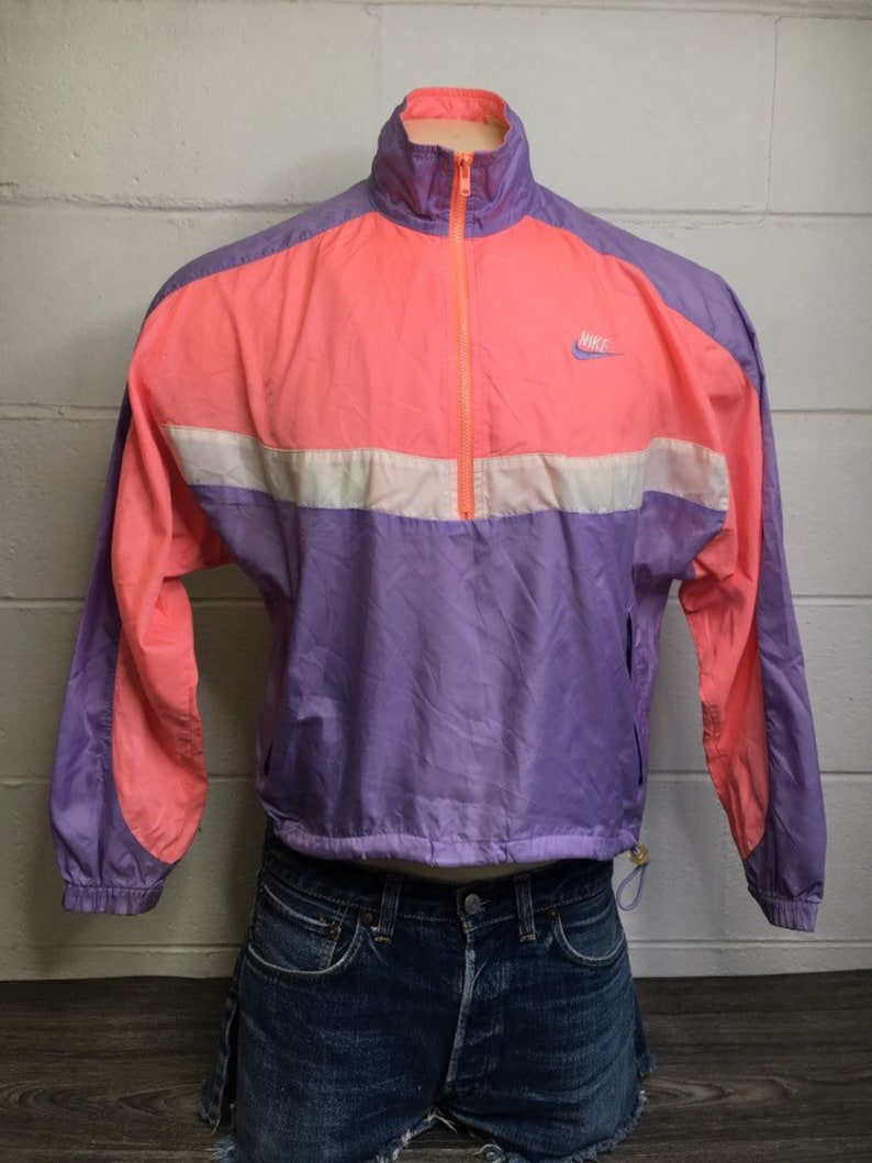 69fe0d77431f NIKE WINDBREAKER Jacket 80 s Vintage Pink Purple Full Zip