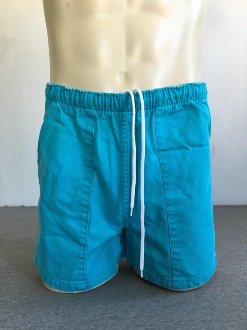 Men's 90's Ralph Vintage All Bright Large Lauren Shorts Sailing Drawstring Aqua Waist Swim Polo Size Cotton Tennis QeWdBrCExo