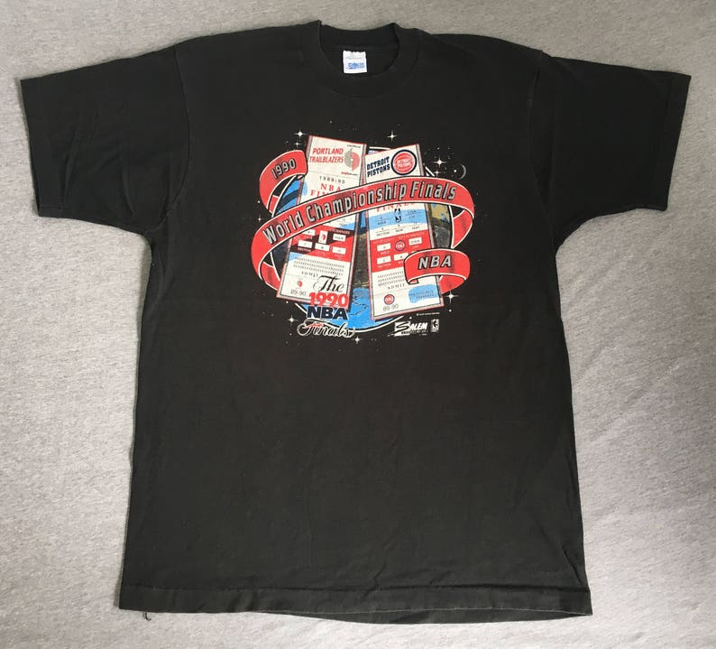 8cbc53575ca Vintage 1990 BLAZERS Tshirt  NBA World Championship Finals