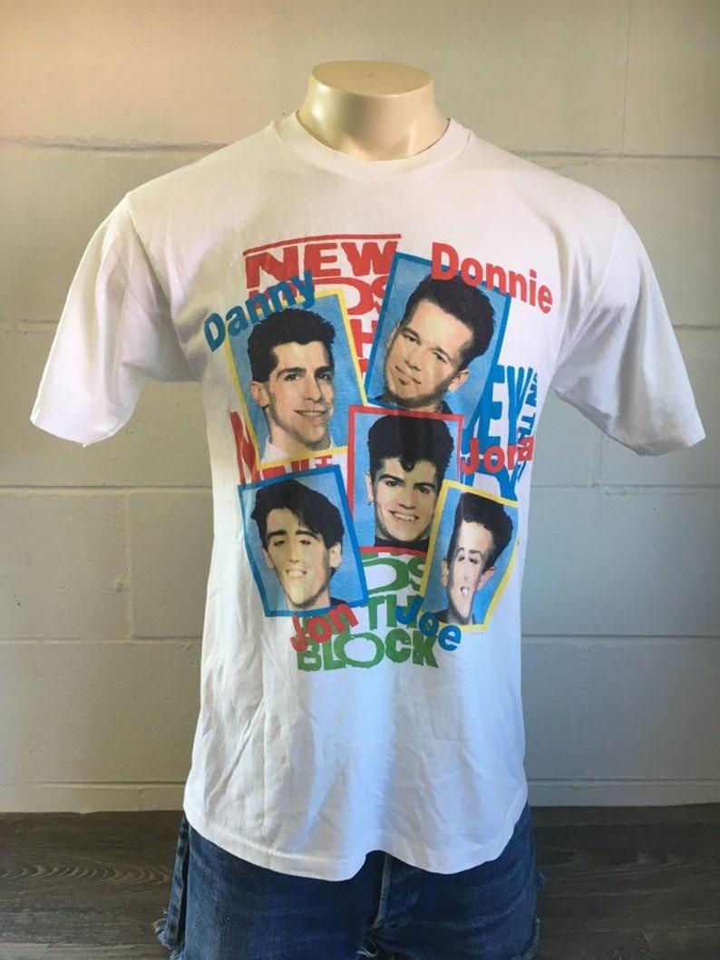 eb80e834d New Kids On The Block Shirt Vintage 1989 80's NKOTB On   Etsy