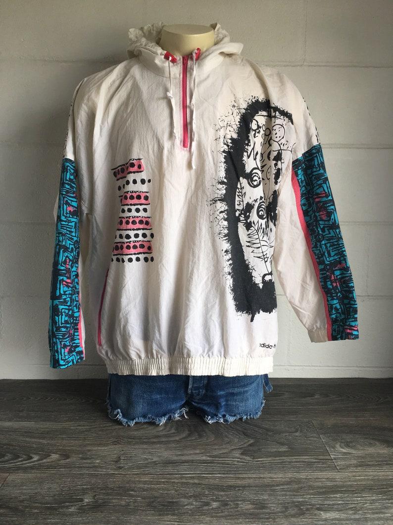 80 A Degli Etsy Giacca Vintage Con 90 Adidas Anni Vento Xwfdwq