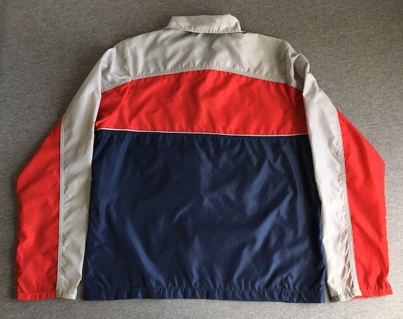 NIKE coupe vent veste 80 ' s Vintage bleu étiquette Pull demi Zip WindRunner Warm Up Nylon Breakdance Hip Hop UsA rouge bleu gris Sm compressible