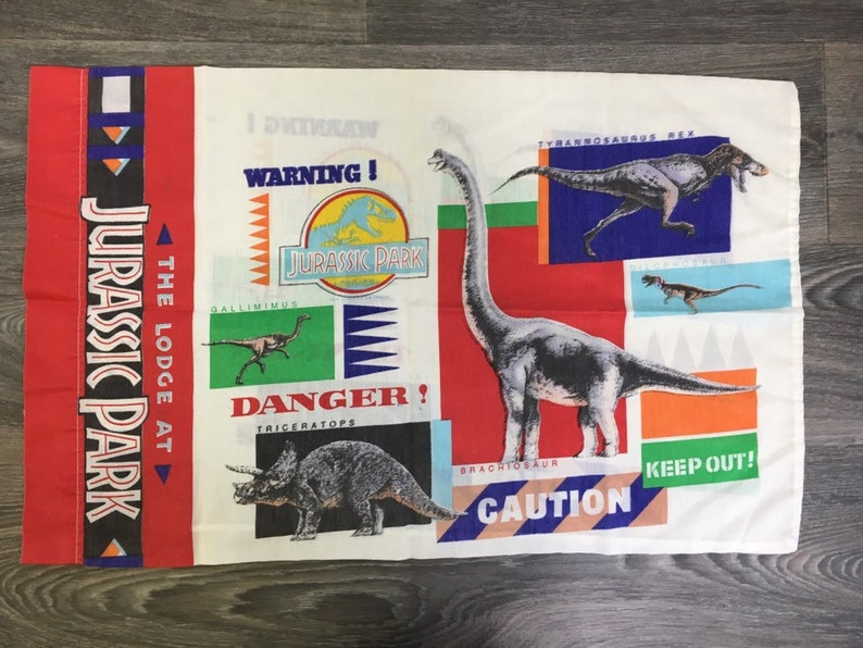 Jurassic Park Lodge Kissen Fall 1992 90er Jahre Vintage Film Etsy