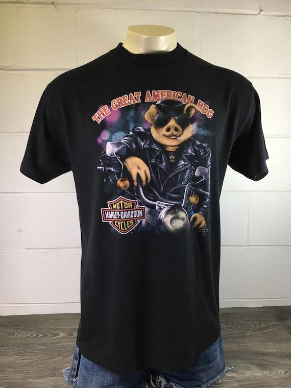 Vintage 1991 Harley Davidson 3D Emblem T-Shirt