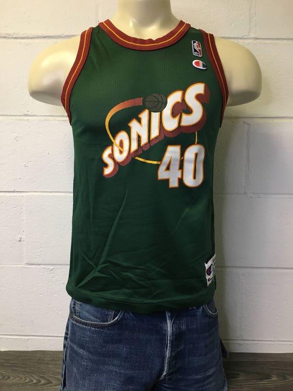 Shawn Kemp Seattle SuperSonics Jersey Sonics 90s Vintage  ca38d16bc