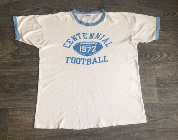 Champion Blue Bar 1972 Shirt Ringer Tshirt 70s Foo