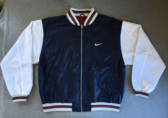 NIKE veste Vintage années 90 réversible cousu Swoosh Baseball   Etsy 32da72461269