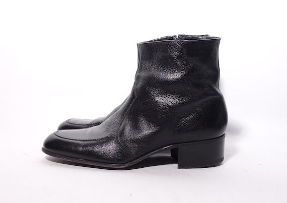 Florsheim Boots Mens Size 8 D Black Leather Beatle