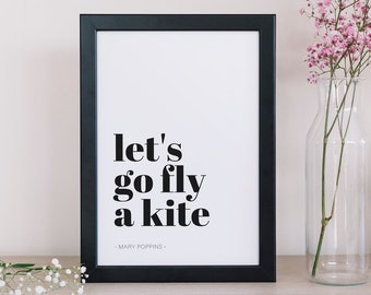 Lets Go Fly A Kite Etsy