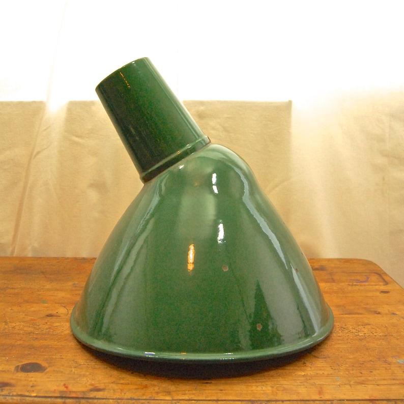 c2b356254a01 Vintage 1940's Industrial Large Green Enamel Lamp Shade | Etsy