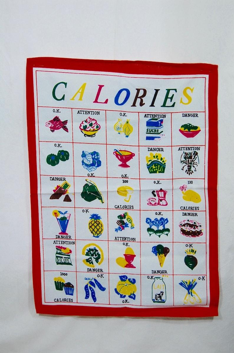 kitchen cloth Food Calories Tea towel French Vintage Kitchenelia