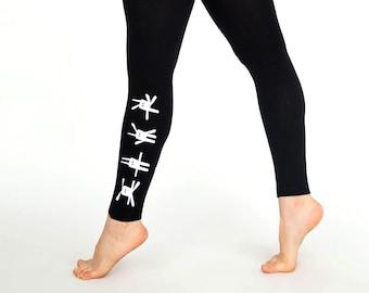 f9ac8050a72eb Bunny print leggings, women printed leggings, easter leggings, ladies gift,  easter gift