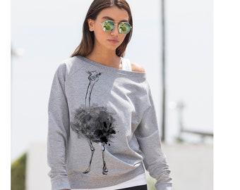 Wide Sleeved Sweatshirt Indie Sweatshirt Crossed Collar Blouse MB1379 Long Sleeved Top Marcella V-Neck Casual Top