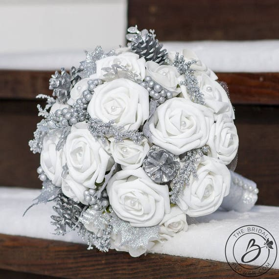 Winter Wedding Bouquet Winter Bridal Bouquet Winter Etsy