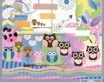 It's A Hoot Digital Scrapbook Owl Kit