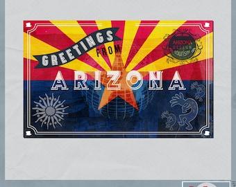 Arizona Vintage Digital Postcard