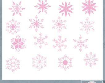 Pink Chalk Snowflakes