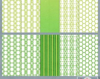 Greenie Digital Scrapbook Papers