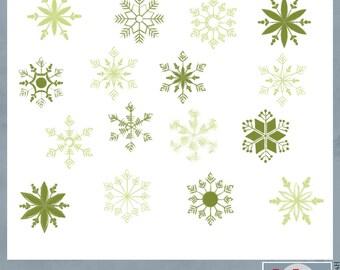 Green Chalk Snowflakes