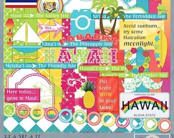 Hawaii Travel and Vacation Adventures Digital Scrapbook Kit