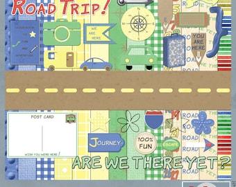 Road Trip Digital Scrapbooking Kit