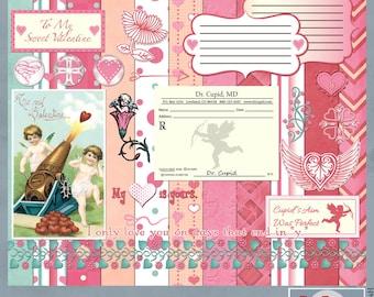 Valentine Digital Scrapbook Kit
