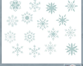 Blue Chalk Snowflakes