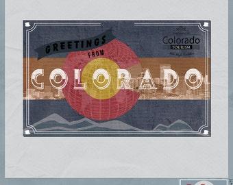 Colorado Vintage Digital Postcard