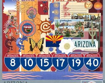 Arizona Travel and Vacation Adventures Digital Scrapbook Kit