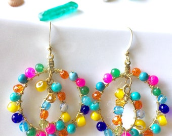 Color Therapy Double Hoop Earrings