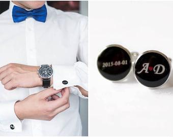 Wedding cufflinks - personalised wedding cufflinks - monogram wedding cufflinks - groom cufflinks - Personalised Bride And Groom gift