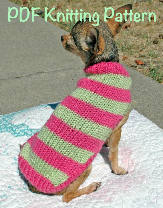 Easy Cute Dog Sweater Knitting Pattern Etsy