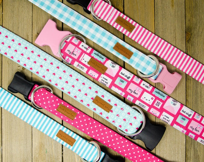 Featured listing image: 2019 Valentine's Day Collection - Modern Girly Romantic Dog Collars