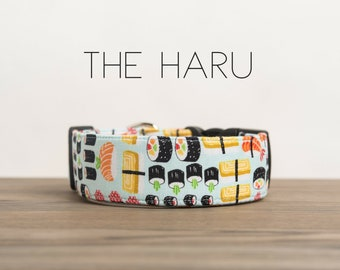 "Whimsical Blue Sushi Inspired Dog Collar ""The Haru"""