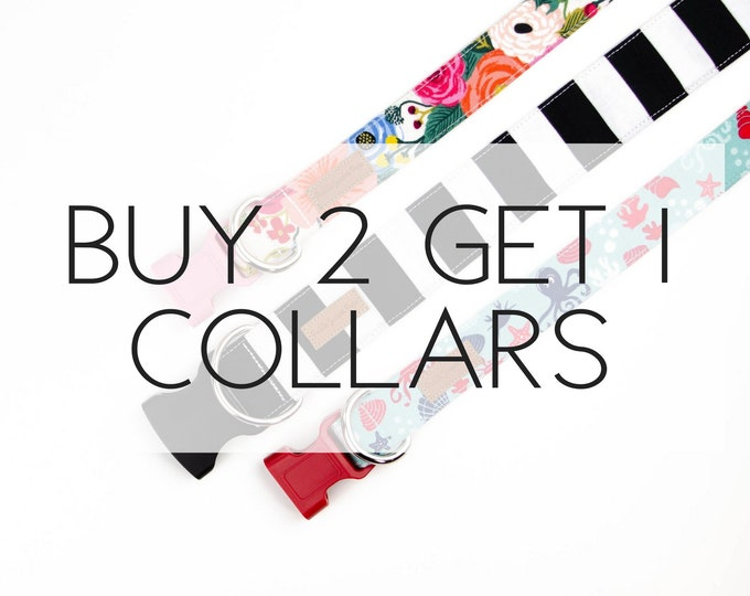 Featured listing image: Buy 2, Get 1 Free Dog Collars Special