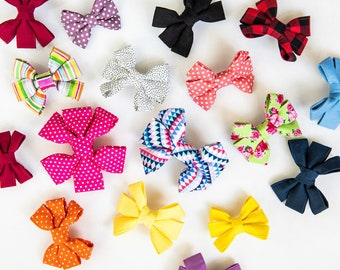 Girly Dog Bow - please note the color/pattern of your bow at checkout!