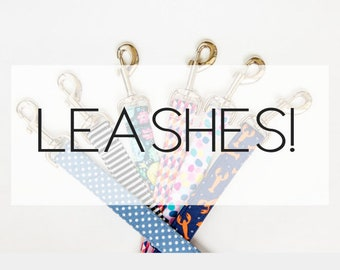 Dog Leash- Made from ANY fabric in our shop! Choose your width & length