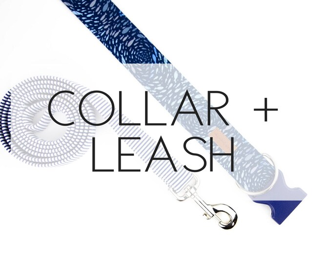 Featured listing image: Dog Collar + Leash Package -please note the pattern(s) of your choice at checkout