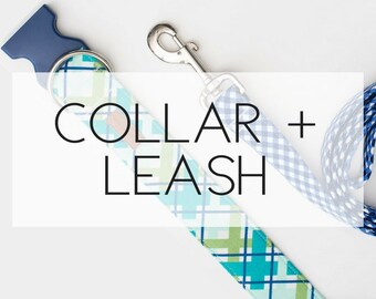 Dog Collar + Leash Package -please note the pattern(s) of your choice at checkout